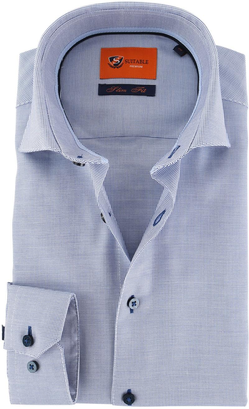 Dagaanbieding herenkleding: Suitable Overhemd Blauw D72-02  online bestellen | Suitable