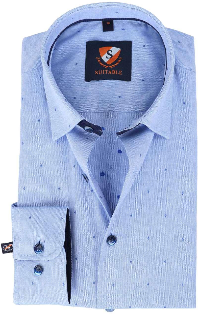 Suitable overhemd Blauw Oxford  online bestellen | Suitable