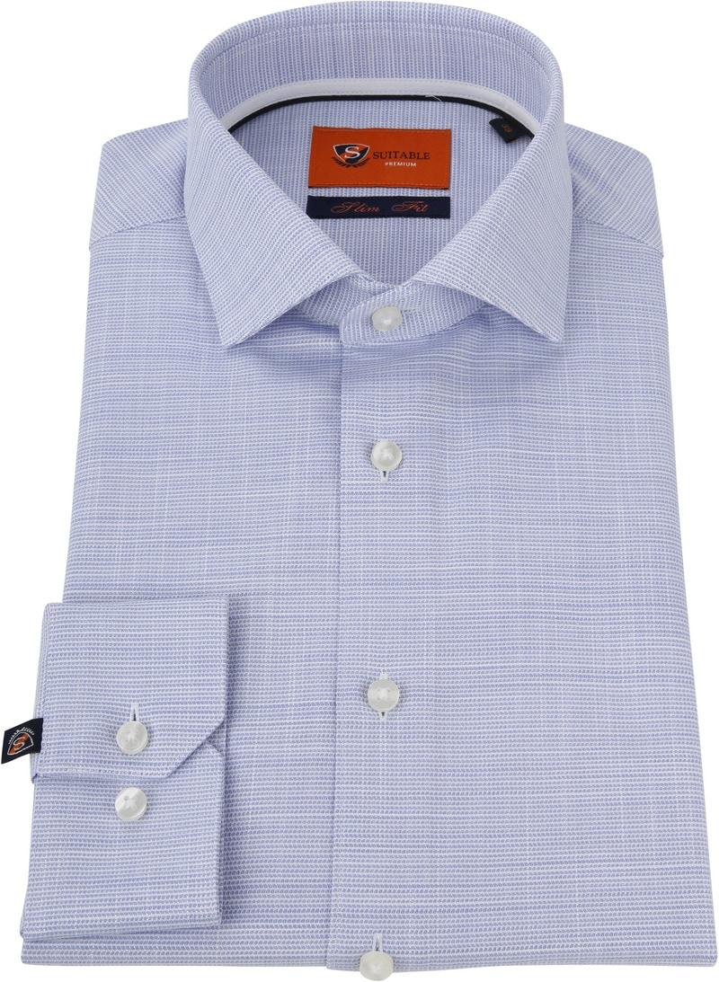 Suitable Overhemd Blauw WS foto 2