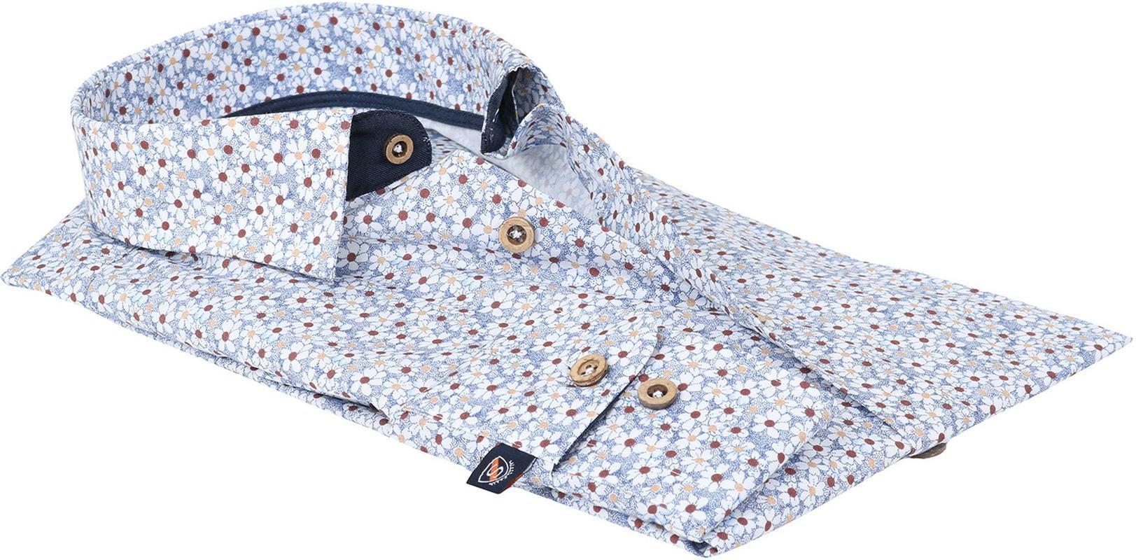 Detail Suitable overhemd Bloem Blauw