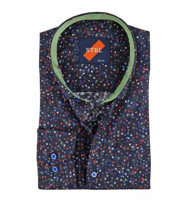 Suitable Overhemd Bloem Navy  online bestellen | Suitable