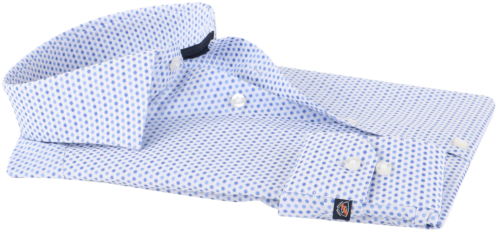 Detail Suitable Overhemd Blue Dots