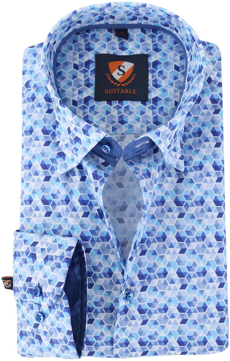Suitable Overhemd Blue Print 149-5  online bestellen | Suitable