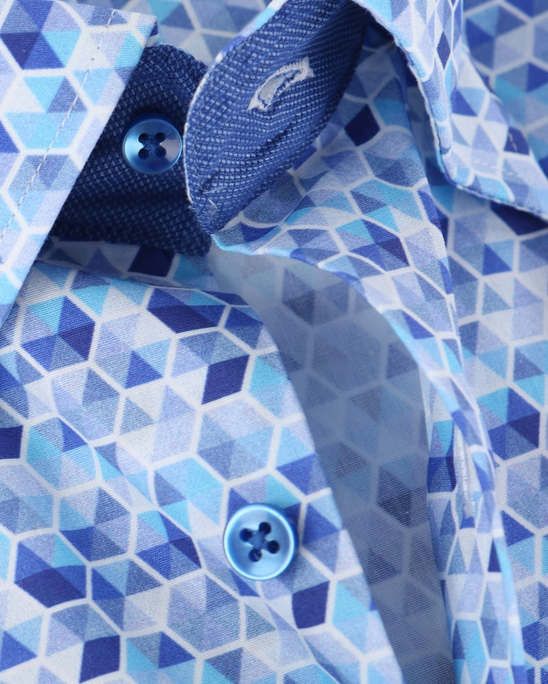 Detail Suitable Overhemd Blue Print 149-5