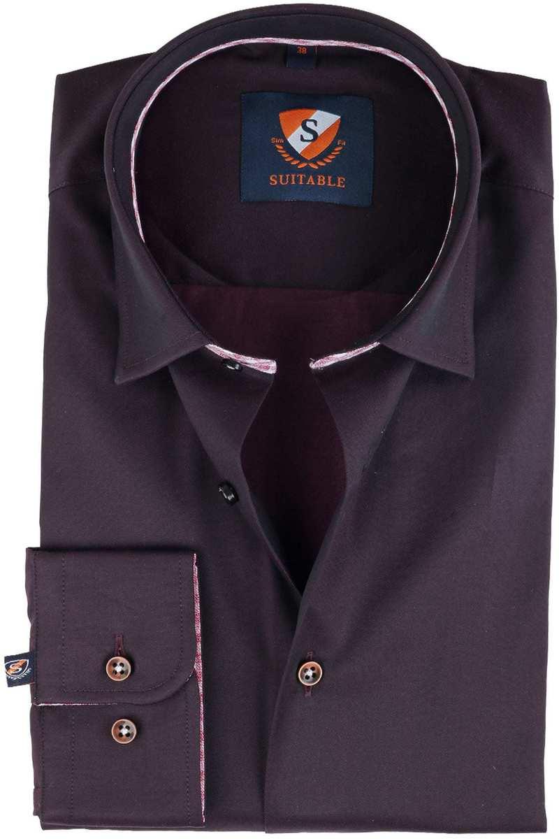 Suitable Overhemd Bruin  online bestellen | Suitable