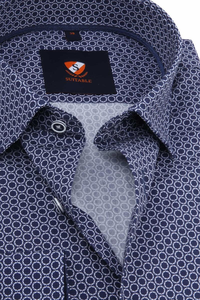 Suitable Overhemd Cirkels Donkerblauw foto 1