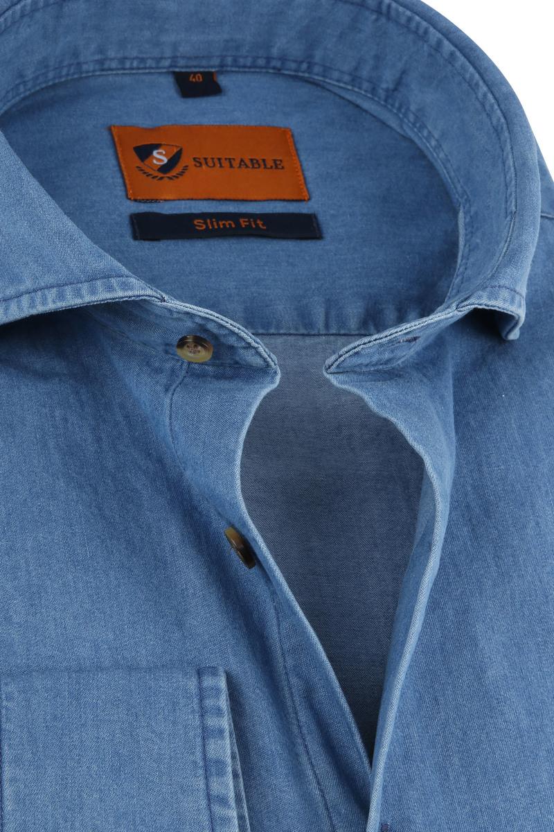 Suitable Overhemd Denim 156-7 foto 1