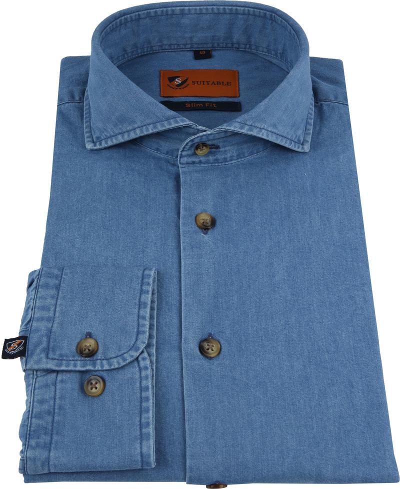 Suitable Overhemd Denim 156-7 foto 2