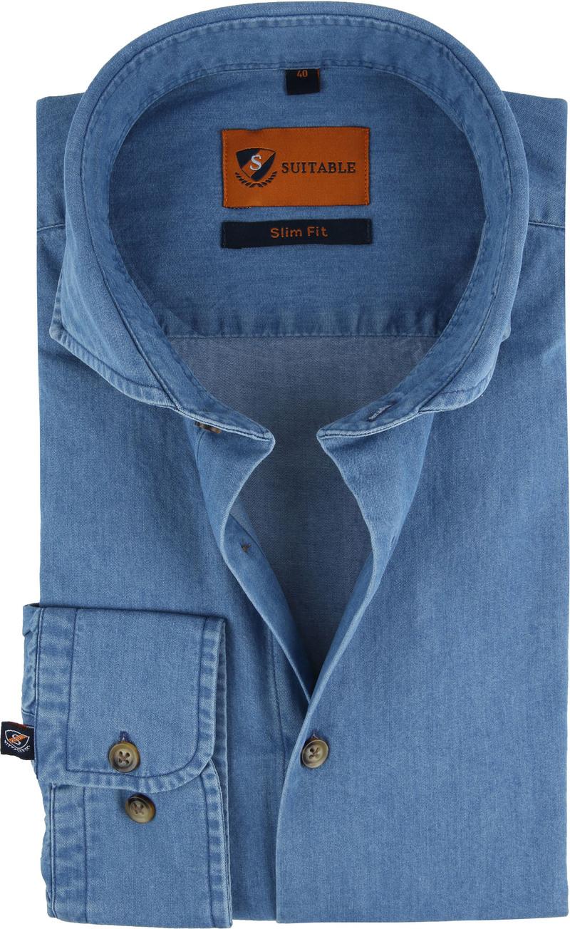 Suitable Overhemd Denim 156-7 foto 0