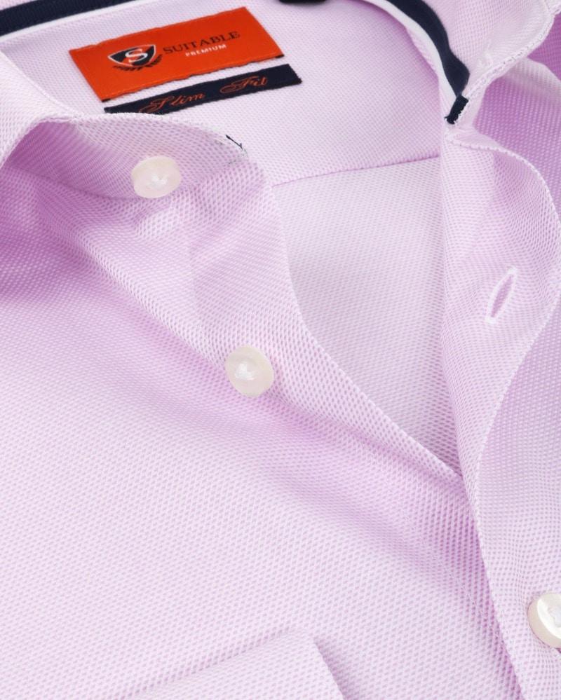 Suitable Overhemd Dobby Roze foto 1