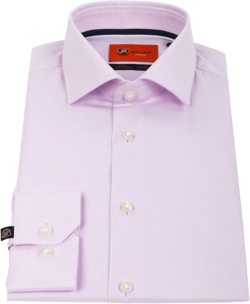 Suitable Overhemd Dobby Roze foto 2