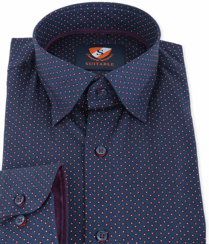 Suitable Overhemd Donkerblauw 134-4 foto 1