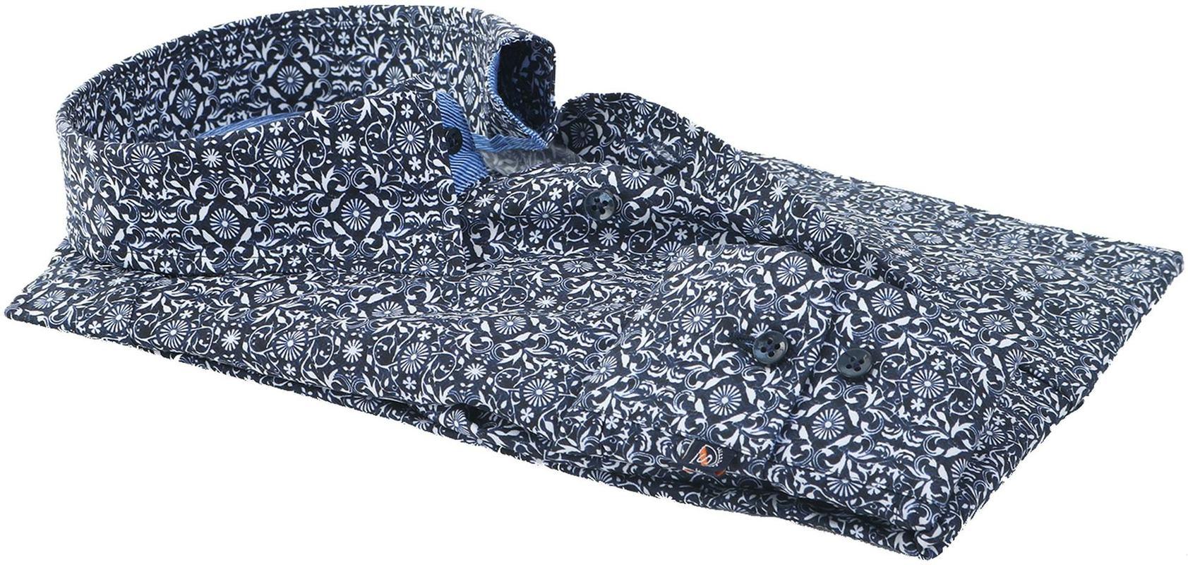 Suitable Overhemd Donkerblauw Print 147-4 foto 3
