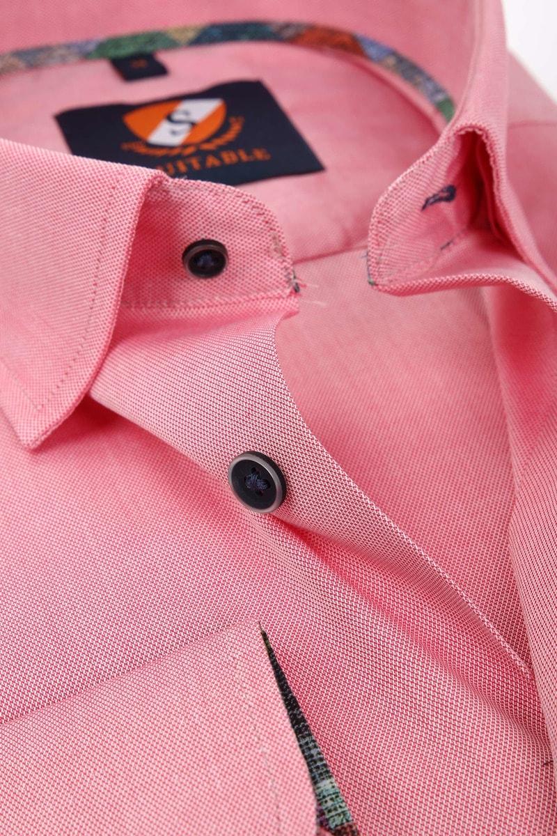 Suitable Overhemd Donkerroze 183-4 foto 1