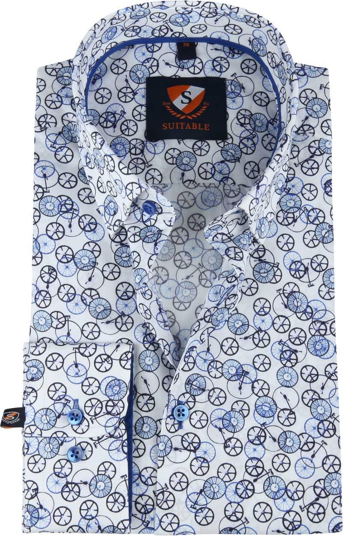Suitable Overhemd Fietsen Blauw foto 0