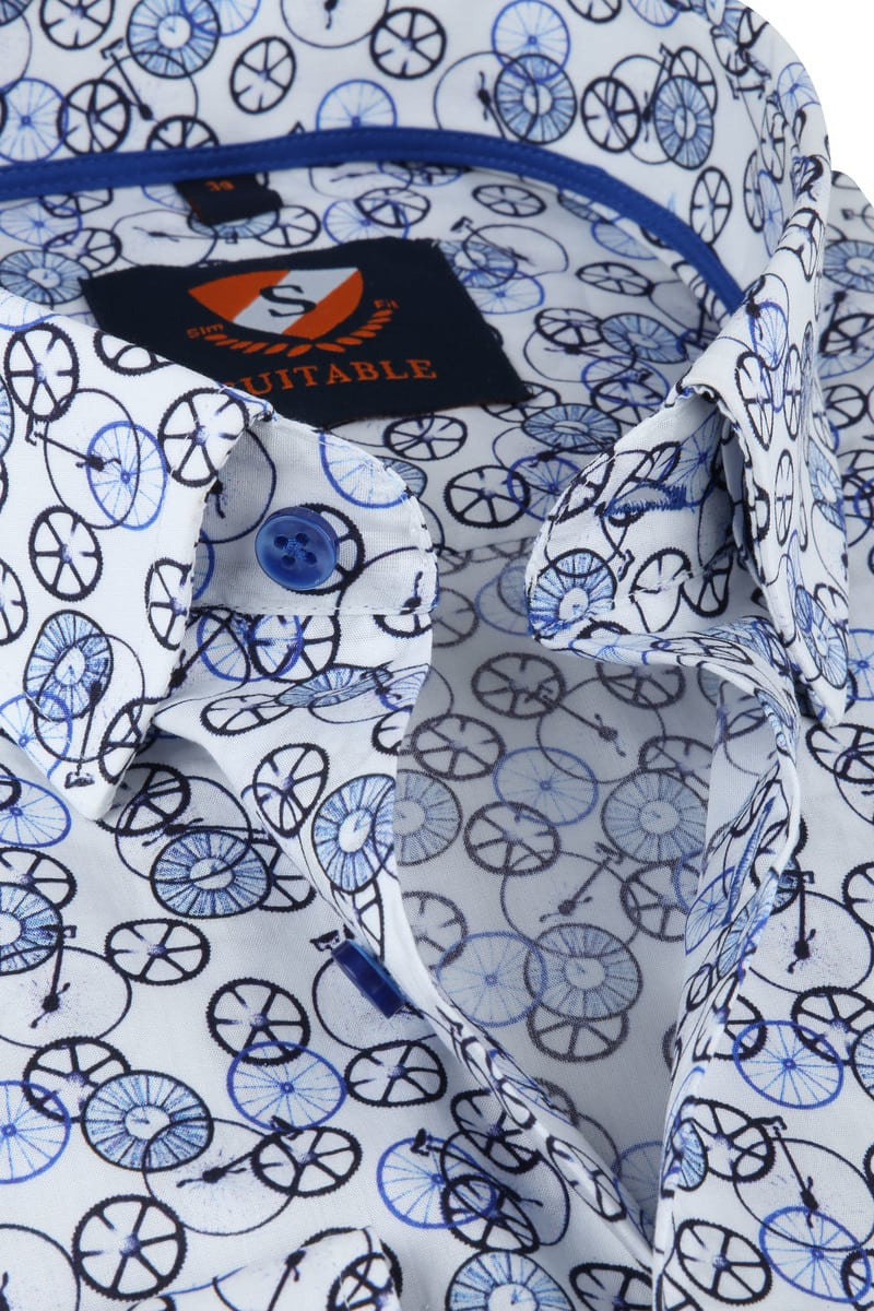 Suitable Overhemd Fietsen Blauw foto 1