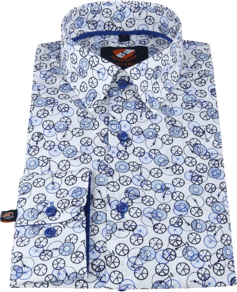 Suitable Overhemd Fietsen Blauw foto 2