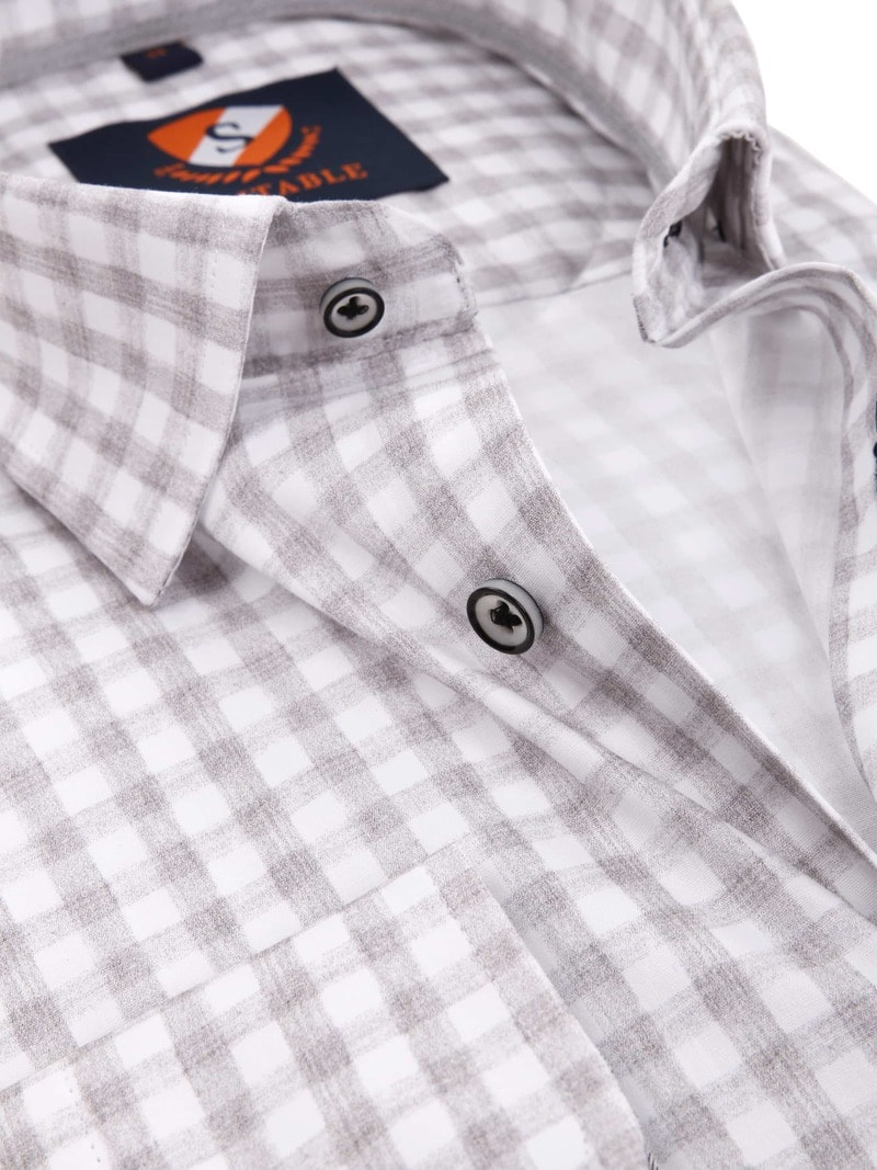 Suitable Overhemd Grey Check foto 1
