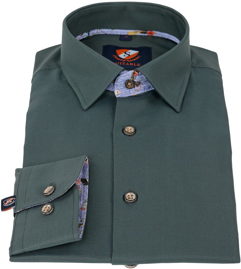 Detail Suitable Overhemd Groen