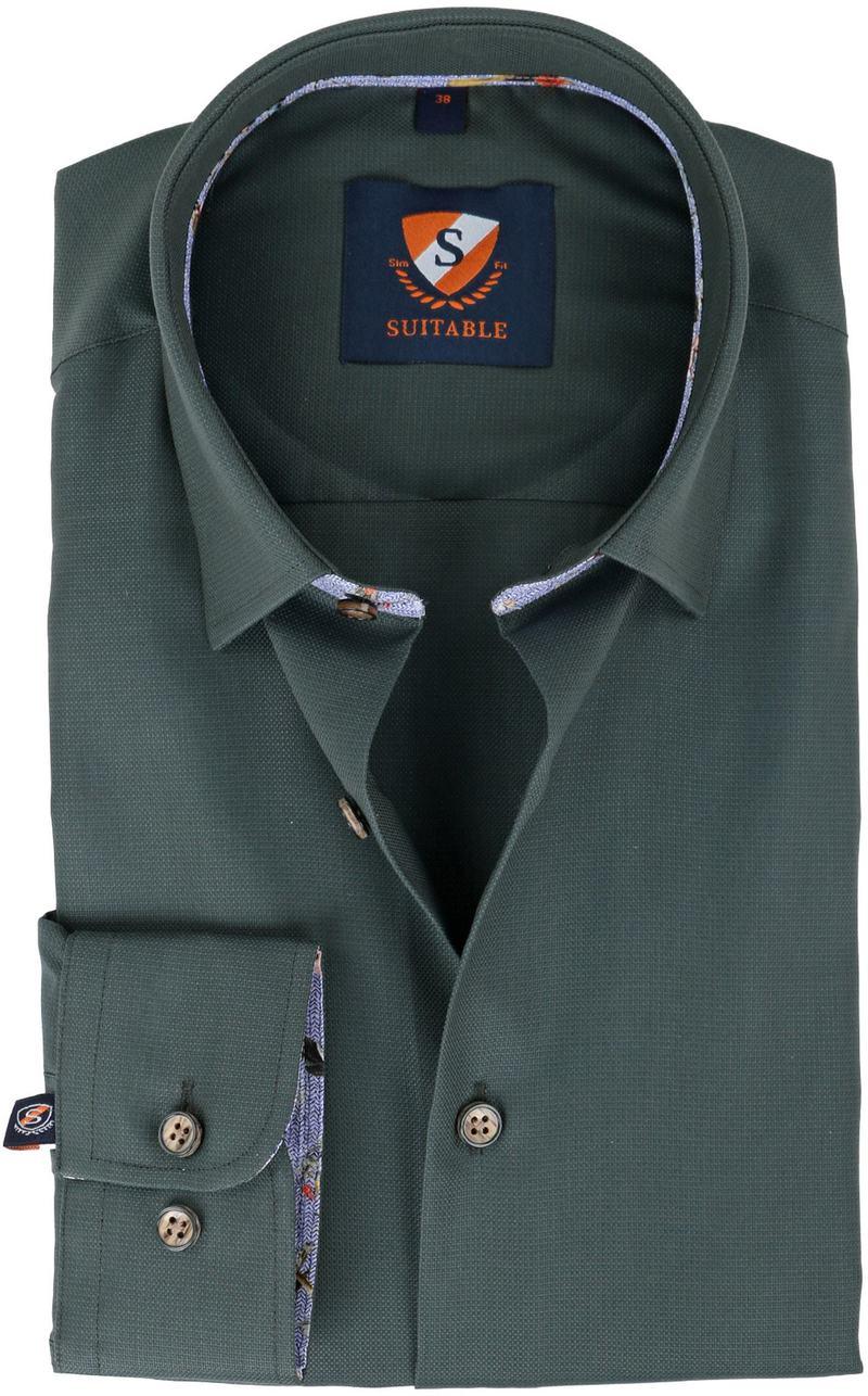 Suitable Overhemd Groen  online bestellen | Suitable