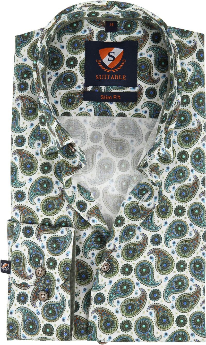 Suitable Overhemd HBD Paisley Groen foto 0