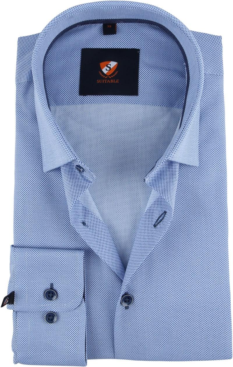 Suitable Overhemd HBD Stippen Blauw foto 0
