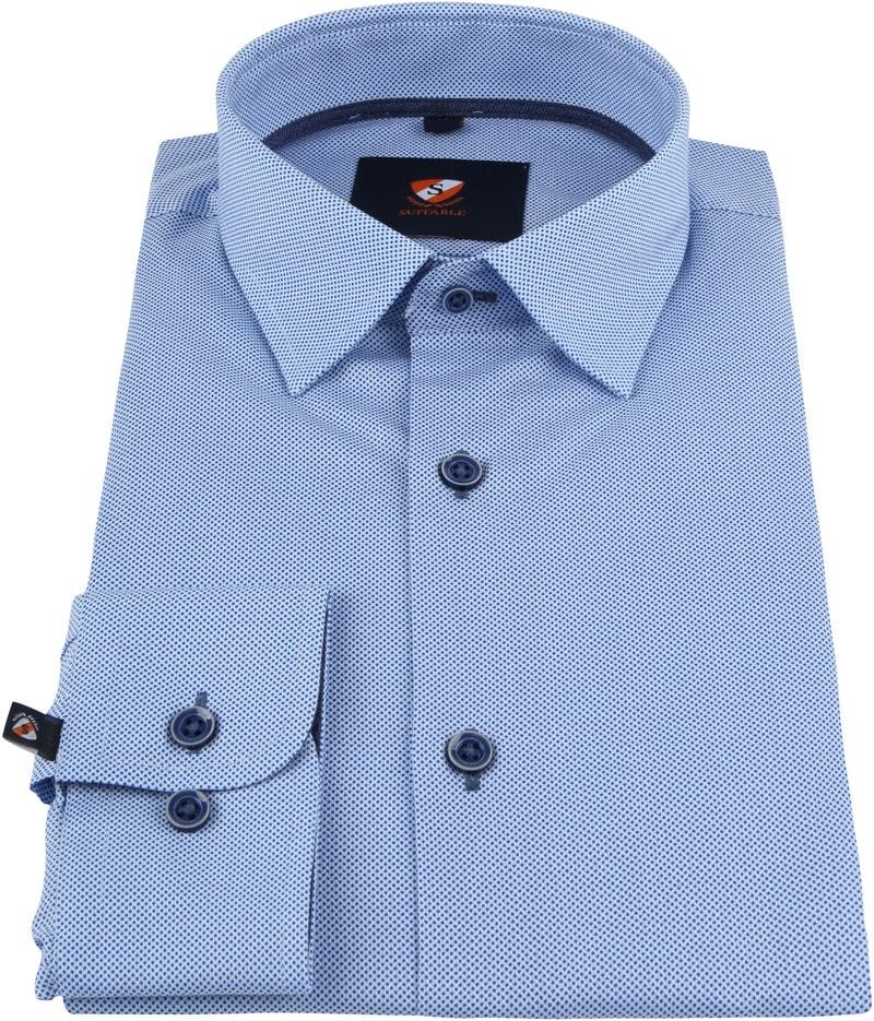 Suitable Overhemd HBD Stippen Blauw foto 2