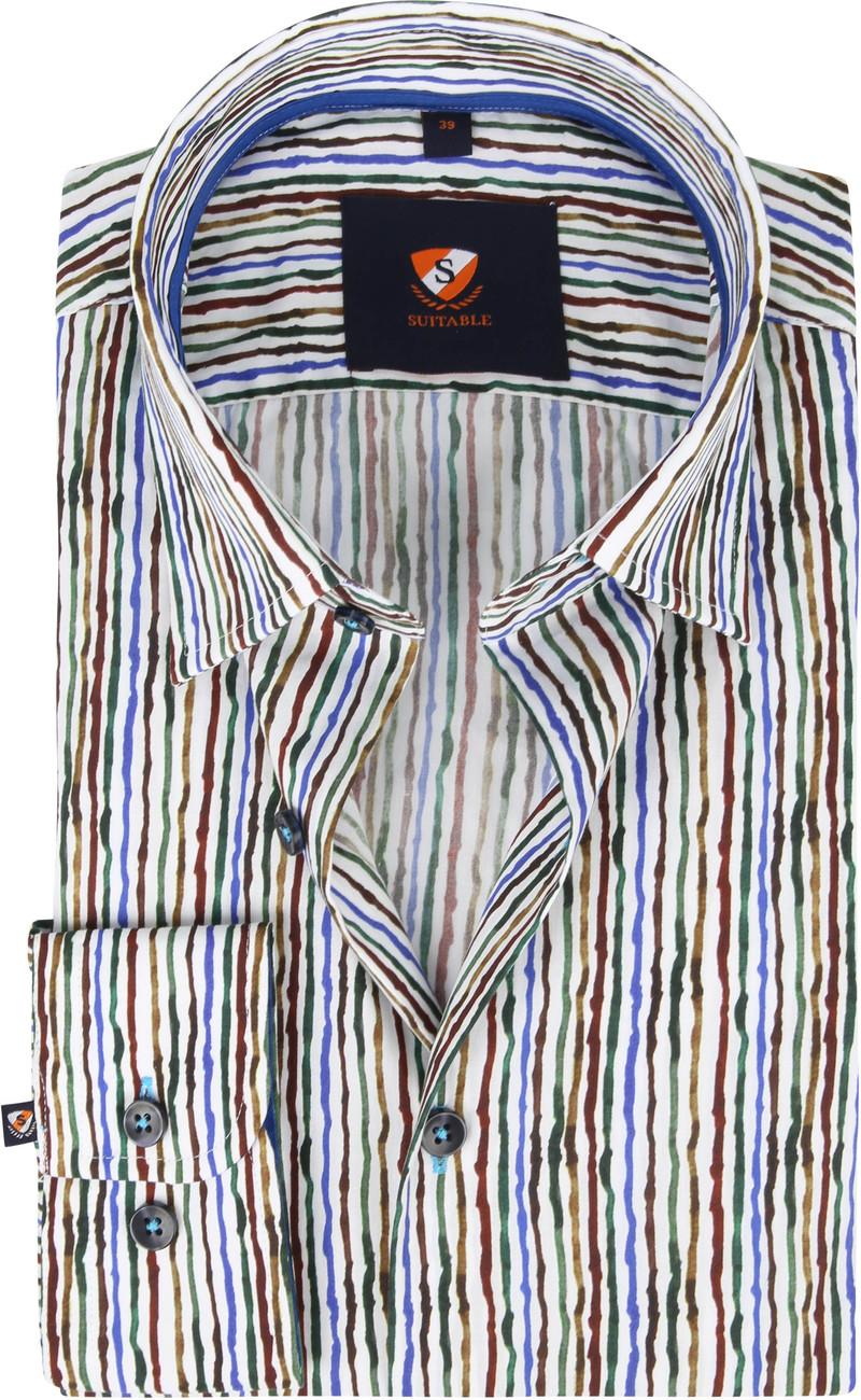 Suitable Overhemd Inked Stripes Multicolour foto 0
