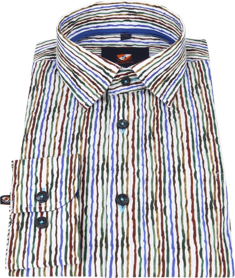 Suitable Overhemd Inked Stripes Multicolour foto 2