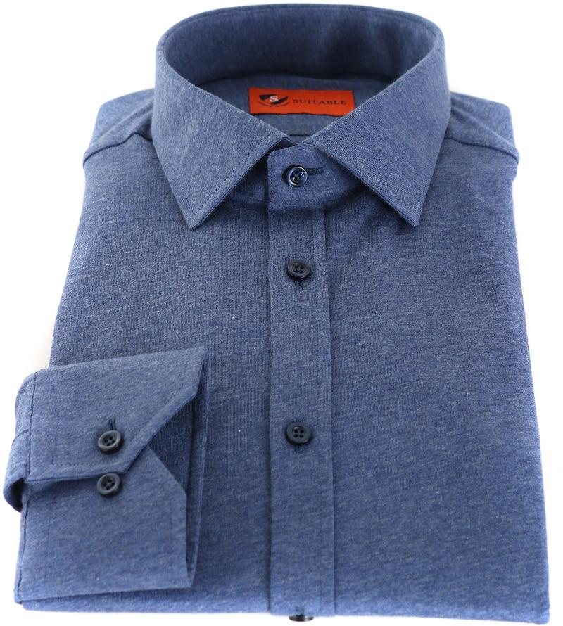 Suitable Overhemd Jersey Blauw foto 2