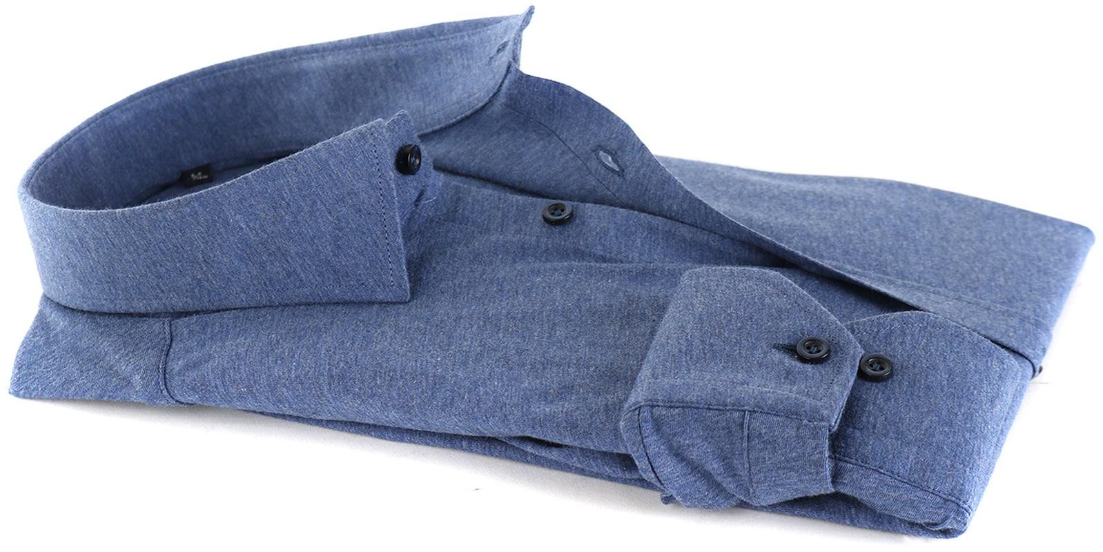 Suitable Overhemd Jersey Blauw foto 3