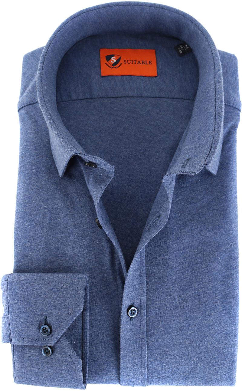 Suitable Overhemd Jersey Blauw foto 0