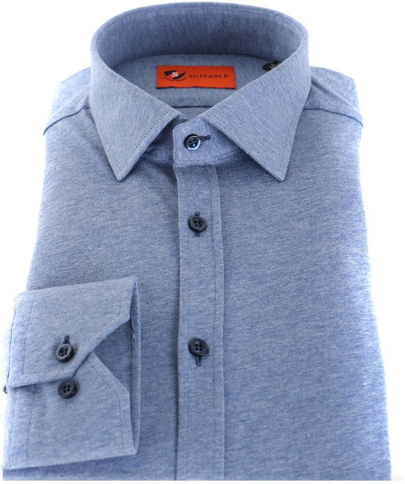 Suitable Overhemd Jersey Lichtblauw foto 2
