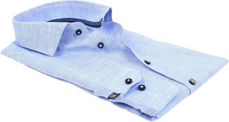 Suitable Overhemd Linnen Blauw D81-12 foto 3