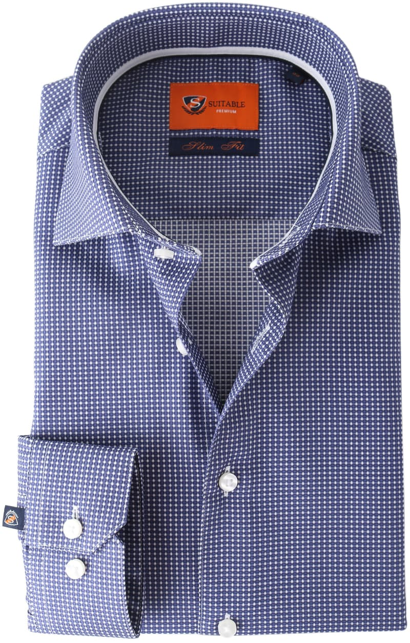 Suitable Overhemd Navy Checks Dot  online bestellen | Suitable