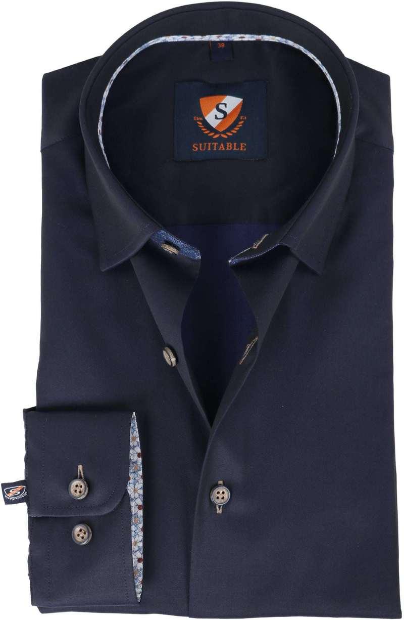Suitable Overhemd Navy Twill  online bestellen | Suitable
