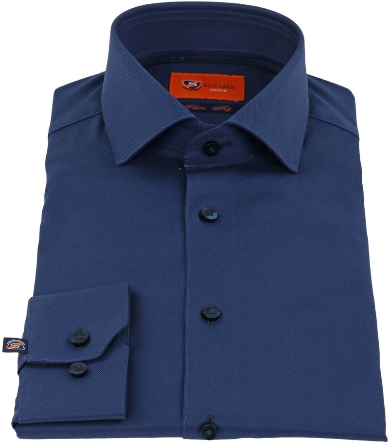 Suitable Overhemd Navy Twill DR-05
