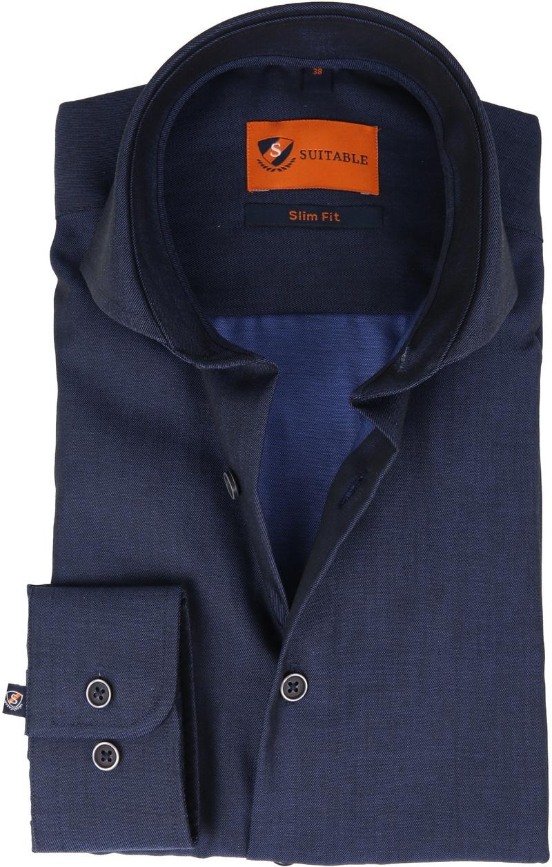 Suitable Overhemd Non Iron Navy Twill foto 0