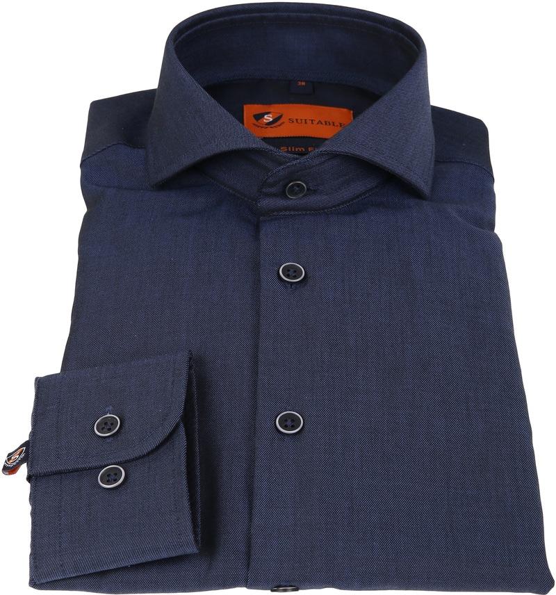 Suitable Overhemd Non Iron Navy Twill foto 1