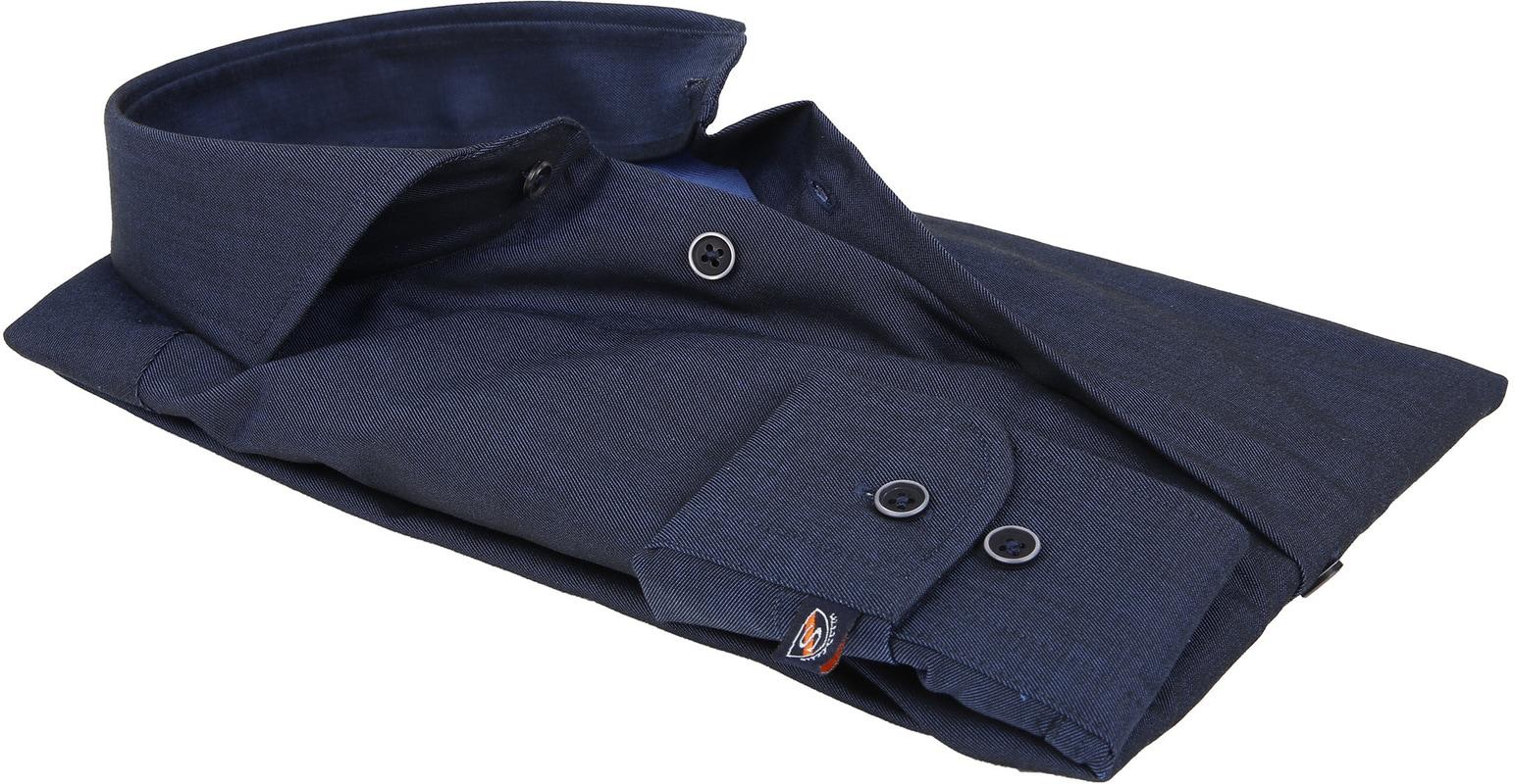 Suitable Overhemd Non Iron Navy Twill foto 3