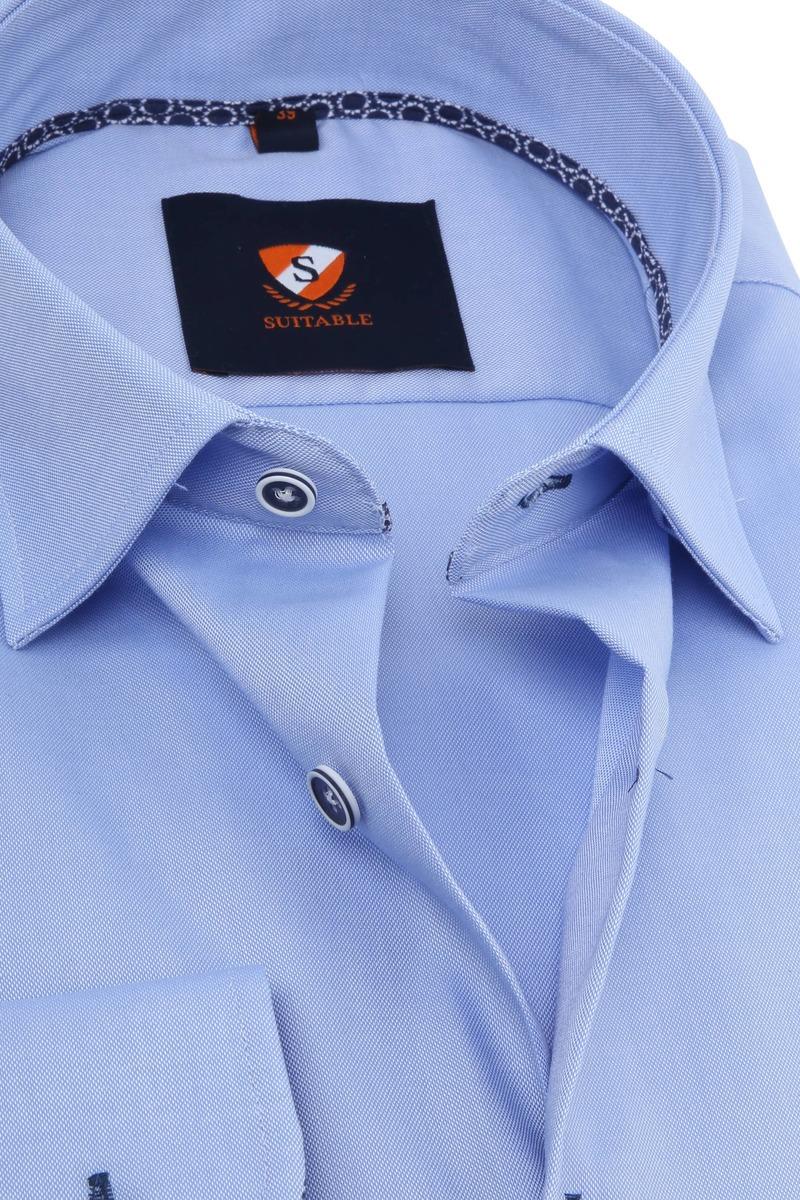 Suitable Overhemd Oxford Blauw
