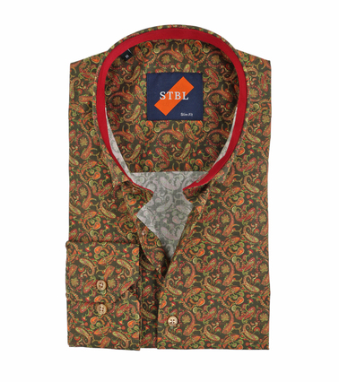 Suitable Overhemd Paisley Groen  online bestellen | Suitable