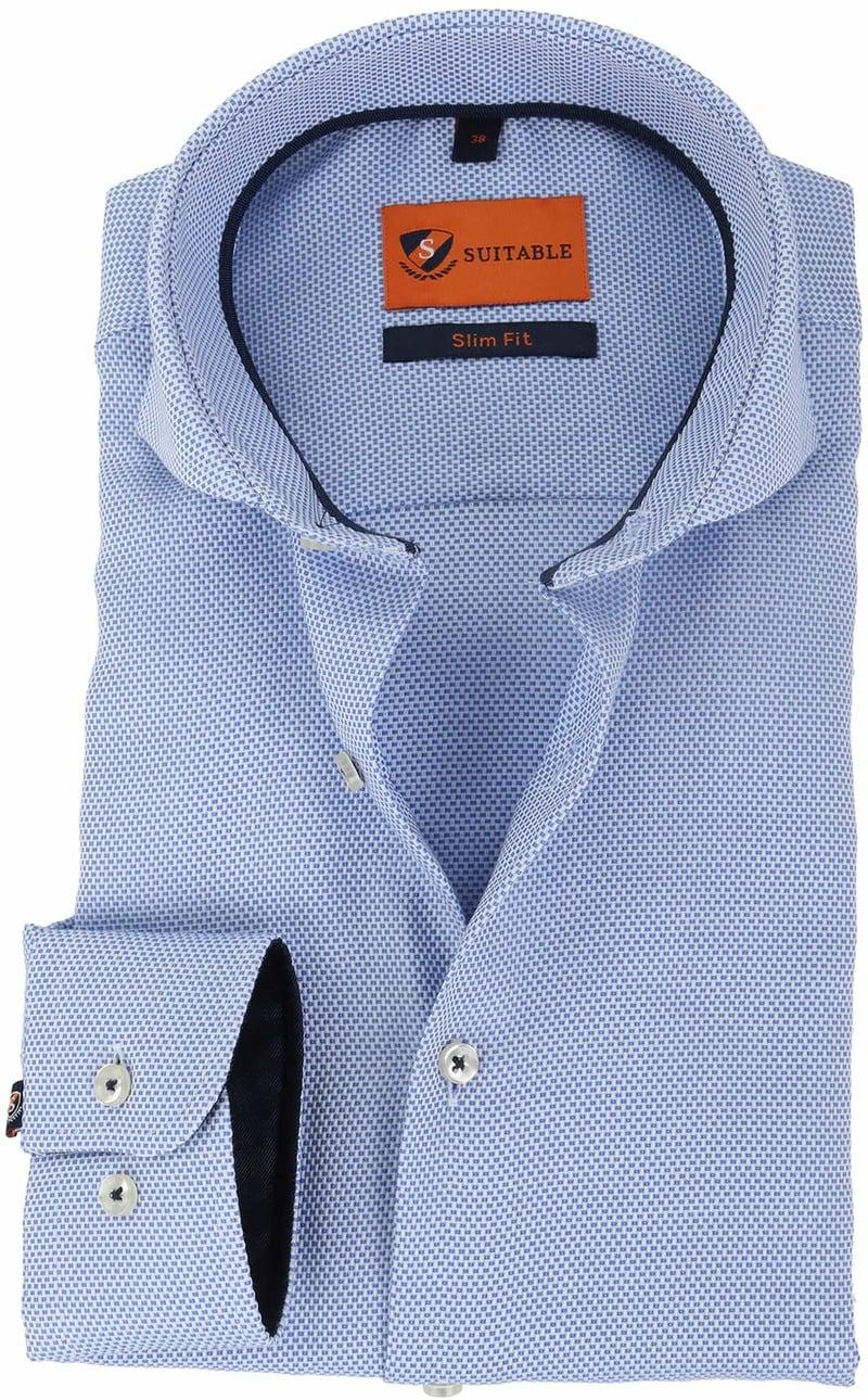 Suitable Overhemd Pinpoint Blauw  online bestellen | Suitable