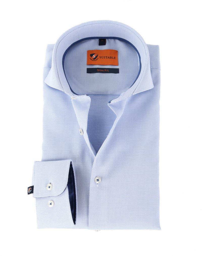Suitable Overhemd Pinpoint Lichtblauw  online bestellen | Suitable
