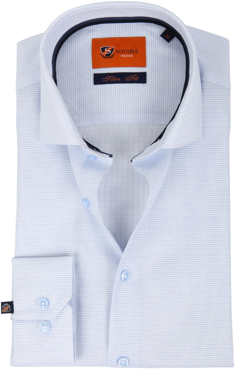 Suitable Overhemd Ruit Blauw D81-07 foto 0