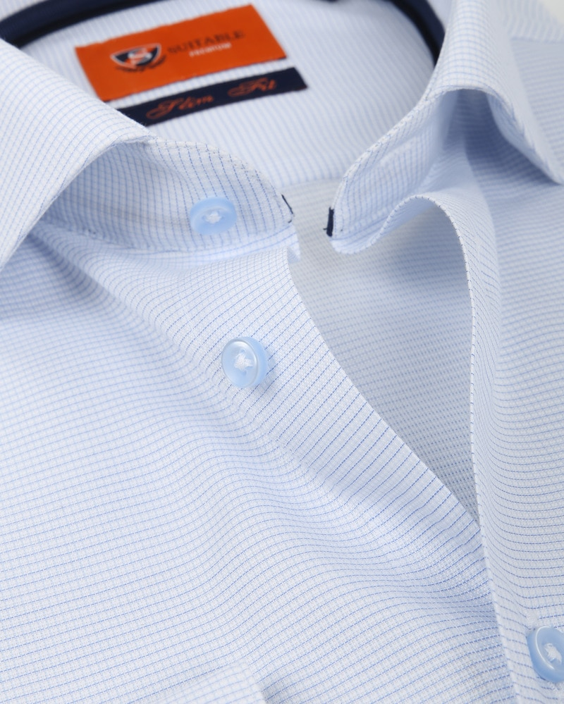 Suitable Overhemd Ruit Blauw D81-07 foto 1