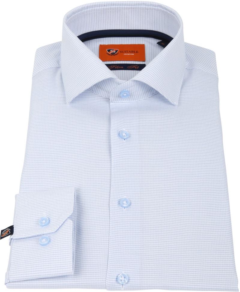 Suitable Overhemd Ruit Blauw D81-07 foto 2
