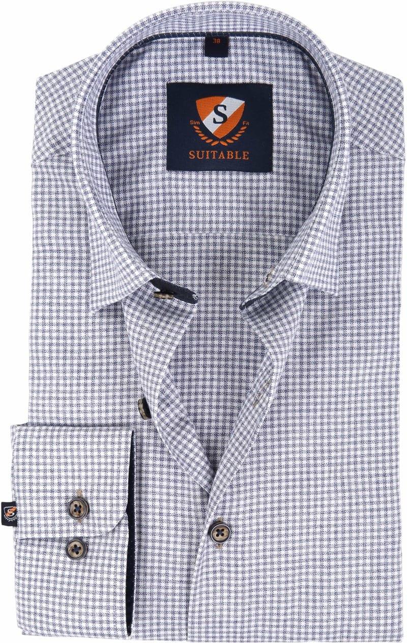 Suitable Overhemd Ruit Navy 183-3 foto 0