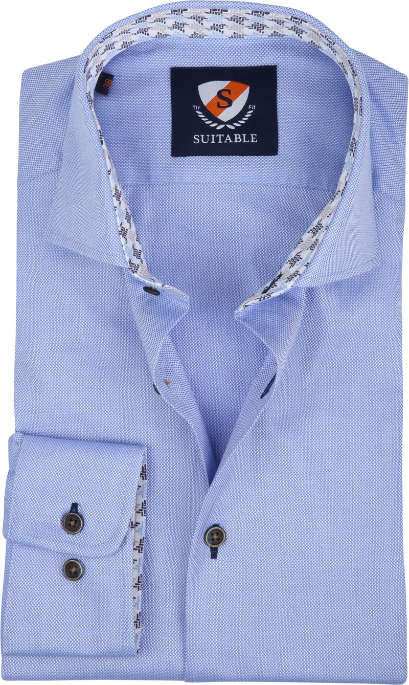 Suitable Overhemd TF Dessin Blauw foto 0