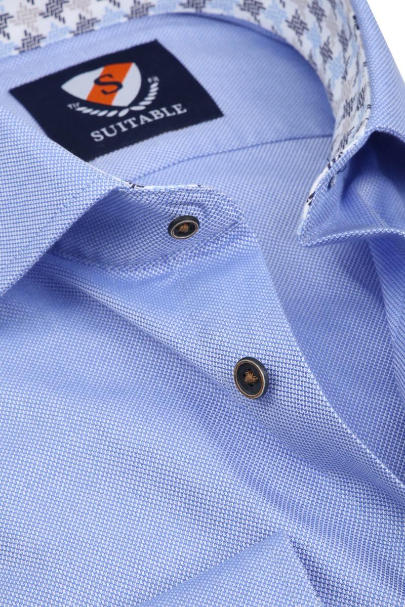 Suitable Overhemd TF Dessin Blauw foto 1